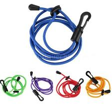 Black Kayak Boat Canoe Paddle Leash Fishing Rod Coil / Tether / Bungee Cord Y6S7