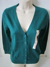 BANANA REPUBLIC Green Cardigan Sweater Women PETITE Size XS,S NWT