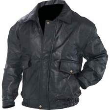 NWT Mens Black Leather Bomber Jacket Coat Bike Ride Cold S M L XL 2X 3X 4X 5X