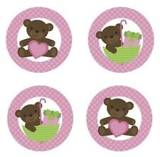 Teddy Bear {Pink} Edible Cupcake Toppers Decoration