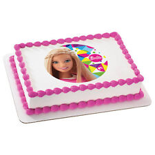 Barbie Sparkle Doll Edible Cake OR Cupcake Toppers Decoration