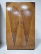 art deco fitted gentleman wardrobe 1930s stunning quality inlaid walnut vintage art deco figured walnut wardrobe vintage
