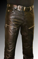 men`s leather pants black new Designer leather pants trousers LEATHER LINING