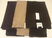 "New Mens Casual Smart Expandable Waist Trousers Biege Navy Black Size 32"" 44"""