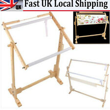 RETRO CROSS STITCH TAPESTRY FLOOR STAND TABLETOP WOOD FRAMES EMBROIDERY UK STOCK