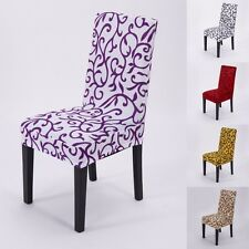1 Piece Floral Chair Covers Slipcovers For Dining Room Wedding Party Decorations