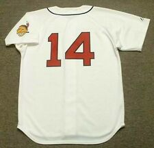 LARRY DOBY Cleveland Indians 1948 Majestic Cooperstown Throwback Baseball Jersey