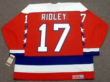 MIKE RIDLEY Washington Capitals 1990 CCM Vintage Throwback NHL Hockey Jersey