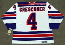 RON GRESCHNER New York Rangers 1986 CCM Vintage Home NHL Hockey Jersey