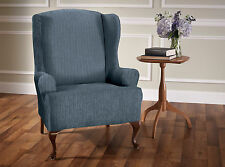 Innovative Textile Solutions Heather Stripe Stretch Wing Chair Slipcover