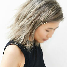 Women Girls Triangle Delicate Hair Pin Hair Decorations Hair Clip Jewelry FN