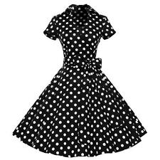 Women Classy Vintage 1950's Rockabilly Pinup Swing Evenning Dress Hepburn M-XXL