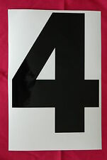 11 Large Self Adhesive No's / Letters - A4 (280mm high)