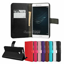 Flip PU Leather Wallet Card Case Stand Cover For Huawei Ascend P9 / Lite / Plus