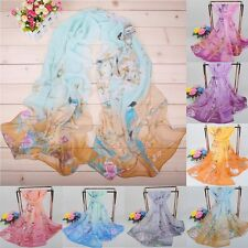 Fashion Women Lady Summer Beach Long Soft Chiffon Scarf Wrap Shawl Stole Scarves