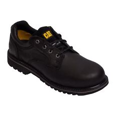 Caterpillar Mens ELECTRIC ST PLAIN TOE OXFORD Black STEEL TOE Work Shoes