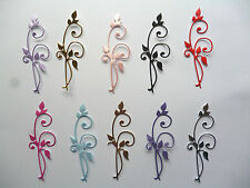 10 Lovely Die Cut Fancy Flourishes 17 different colours