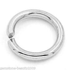 "GB Wholesale Stainless Steel Jump Rings Findings Silver Tone 8mm(3/8"")Dia."