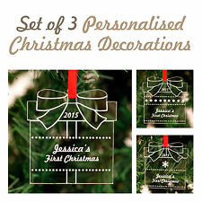 Personalised Christmas Acrylic Present Decorations