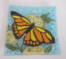 Hand made fused glass soap dish/jewelry holder/ash tray/spoon rest