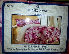 6 PIECE REVERSIBLE COMFORTER AND COVERLET BEDDING SET STYLE ROCHELLE