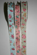 Berties Bows Floral Polka Dot Lacey Edge Ribbon-1m-Buy 5 For Free Postage