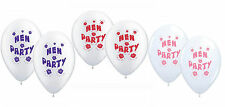 10 Hen Night Party Balloons Suitable for Air or Helium Various Colours