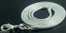 Snake Chain Necklace Ladies Men's Silver overlay 2mm Choose 18, 22, & 24 Inches