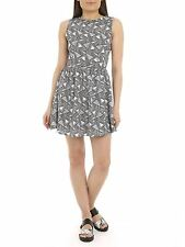 Poppy Lux Womens Ladies Trixie Dress Sleeveless Patterned Skater Summer