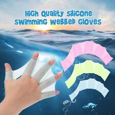 HOT! 1Pcs Swim Gear Fins Silicone Hand Flippers Webbed Gloves Swimming L9B7