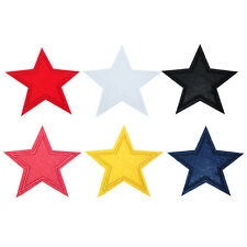 3/6pcs Star Embroidered Iron on Applique Patch Fabric DIY Patches 8 cm