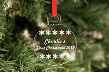 Personalised Christmas Decorations Bauble !!