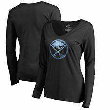 Buffalo Sabres Women's Pond Hockey Slim Fit Long Sleeve T-Shirt - Black - NHL