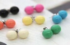 LARGE Kitsch & Colourful Ball Stud Earrings CHOOSE YOUR COLOUR!! UK SELLER!