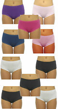 Ladies / Womens Pack of 5 Midi Briefs Knickers Pants 100% Cotton Size 12 - 20