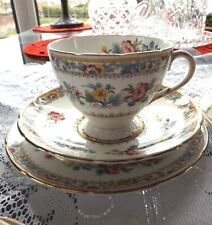 TRIO tea coffee cup & saucer & dessert plate FOLEY CHINA MING ROSE E.BRAIN & CO