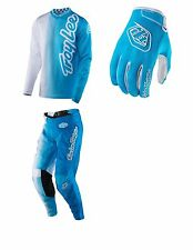 2017 TROY LEE DESIGNS 50/50 GP AIR PANT JERSEY GLOVE COMBO COLOR BLUE/WHITE