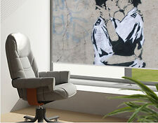 RB118 - BANKSY GRAFFITI KISSING COPPERS  PRINTED PHOTO ROLLER BLIND