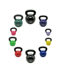 32KG VINYL IRON CAST KETTLEBELL WEIGHT SET - RUSSIAN STYLE KETTLE WEIGHTS SET