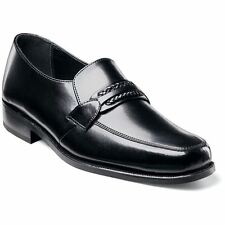 Florsheim RICHFIELD Mens Black Leather Slip On Comfort Loafers Dress Shoes