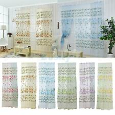 Window Curtain Drape Panel Printing Flower Scarf Valance Sheer Blind Valance