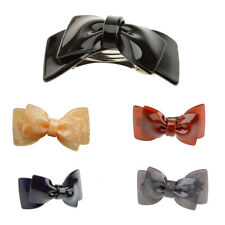 Womens Hairpin Bowknot Barrette Lady Acrylic Hair Clip Bow Accessories Gift