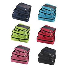3Pcs Waterproof Clothes Storage Bags Packing Cube Travel Luggage Organizer Pouch