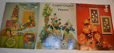 1966 1967 3 Craft Course Magazines Ribbon Straw Cookin' Crystal Pearl Parchment