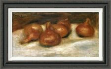 'Still Life With Onions' by Pierre-Auguste Renoir Framed Painting Print