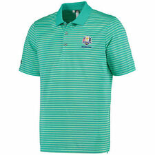 Men's adidas Mint Green 2016 Ryder Cup Performance 3-Color Stripe Polo - Golf