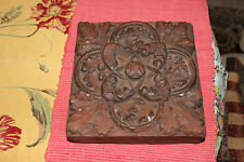 Antique Victorian Cement Architectural Red Brick-Flower Design-#1-15 Pounds-LQQK