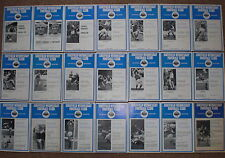 SHEFFIELD WEDNESDAY 1971 1972 COMPLETE HOME FOOTBALL PROGRAMME COLLECTION Sheff
