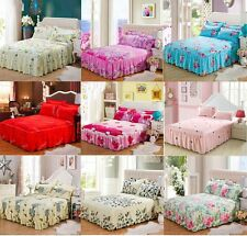 Romantic Bedding Fitted Sheet/Valance With Pillowcases Twin Queen King Size