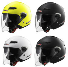 LS2 OF569 TRACK OPEN FACE DUAL VISOR SCOOTER URBAN MOTORCYCLE MOTORBIKE HELMET